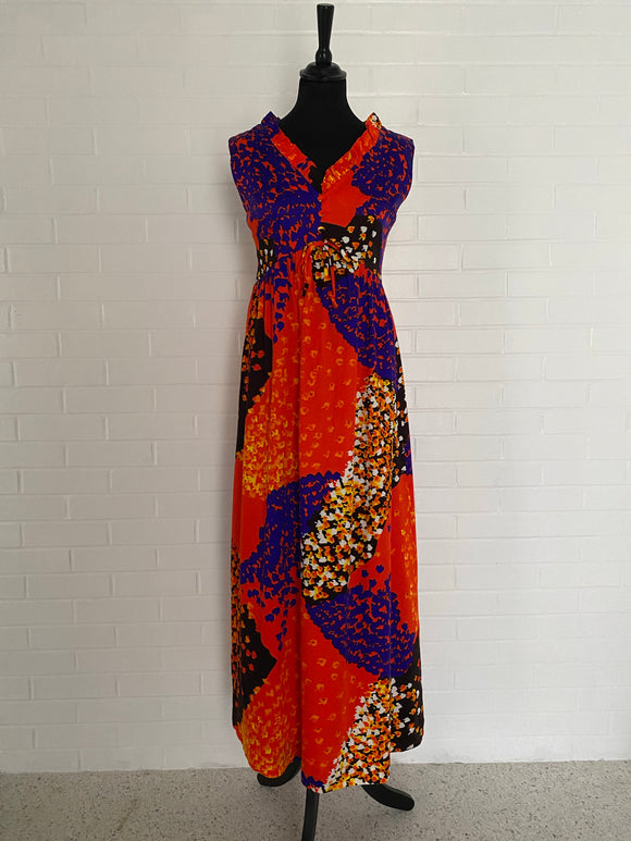 1960s Ludy for Ludi's Honolulu Maxi Dress