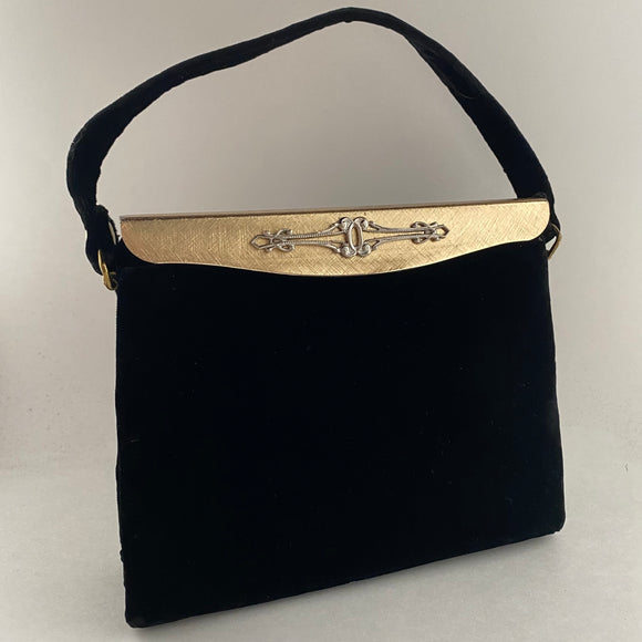 Late 50s/ Early 60s Bobbie Jerome Velvet Handbag