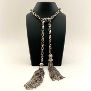 Late 60s/ Early 70s Lariat Tassel Chain Necklace