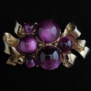 Late 40s/ Early 50s Coro Cabochon Brooch - Retro Kandy Vintage