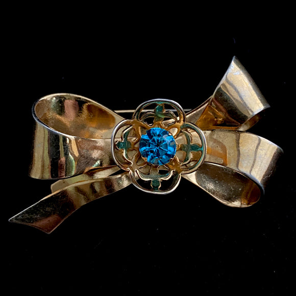 Late 50s/ Early 60s Coro Bow Brooch - Retro Kandy Vintage