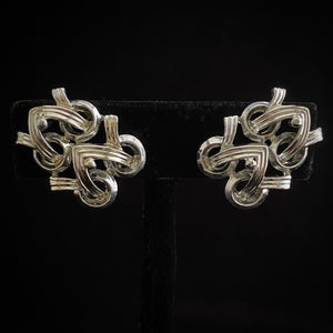 1950 Coro Silver Earrings - Retro Kandy Vintage