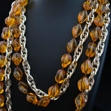 1975 Sarah Coventry Holiday Bead Collection -Amber