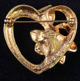 1992 Avon May Birthstone Heart