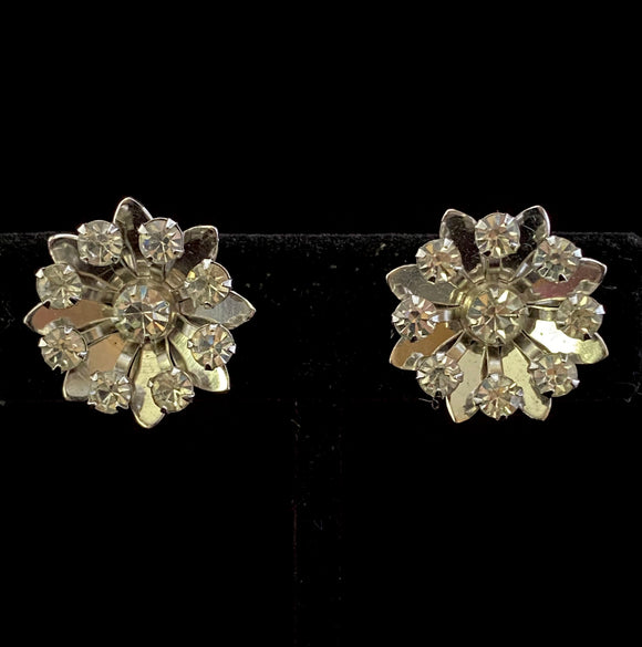 1950s Bugbee & Niles (B.N) Rhinestone Earrings - Retro Kandy Vintage