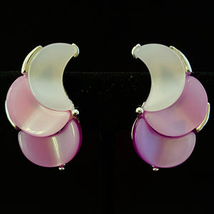 1960s Lisner Thermoset Crescent Earrings - Retro Kandy Vintage