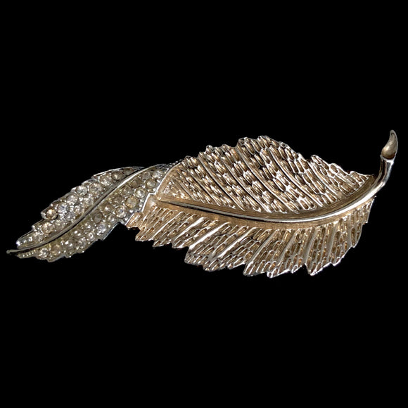 1961 Sarah Coventry Fashion Leaf Brooch - Retro Kandy Vintage
