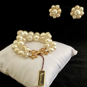 Late 50s/ Early 60s Marvella Faux Pearl Demi-Parure