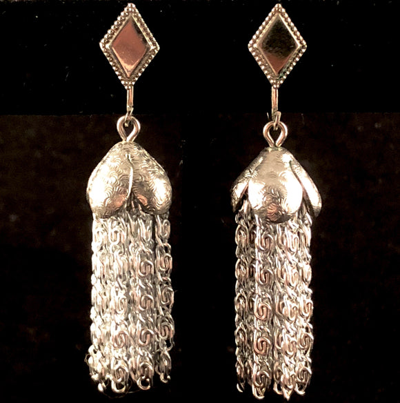 Early 1960's Sarah Coventry Silvery Cascade Earrings