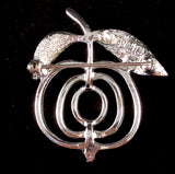 1972 Sarah Coventry Saucy Brooch (Silver) - Retro Kandy Vintage