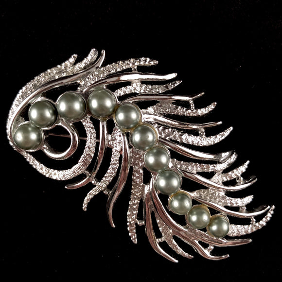 1959 Sarah Coventry Feather Fantasy Brooch - Retro Kandy Vintage