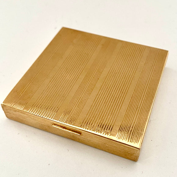 1950s Gold Tone Metal Loose Powder Compact