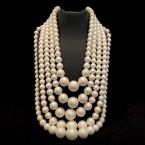 Late 50s/ Early 60s 5 Strand Bead Necklace