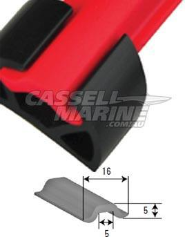 Insert to suit Gunnel Rubber Base-Cassell Marine