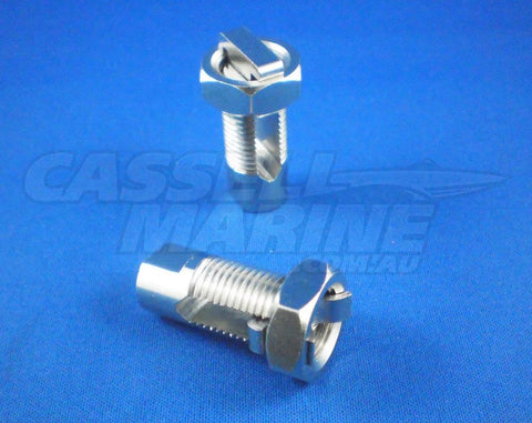 "Steering Cable Clamp 1/2"" UNF - Brass-steering-Cassell Marine"