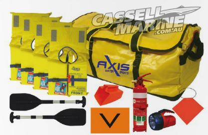 Axis Safety Grab Bag with 4 x Jackets-Cassell Marine