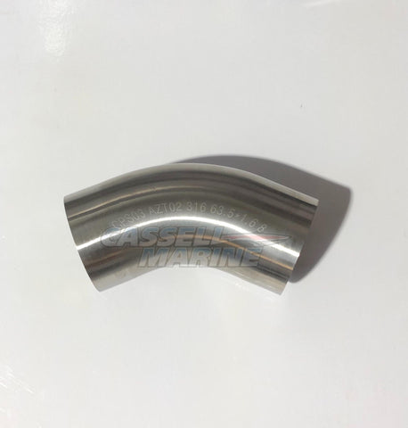 45deg 316 Stainless Bend suit Boat Exhaust 3""