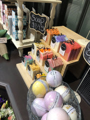 soaps, bath bombs, candles, Market Day Flowers by Cassy Cheltenham