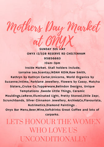 Onyx Cafe Mothers day Market