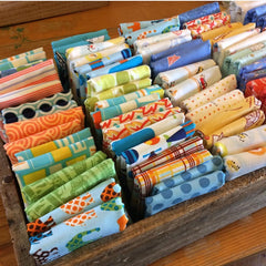 Patchwork fabric de-stash once a month at Flowers by Cassy