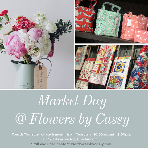 Market Day at Flowers by Cassy Cheltenham Victoria