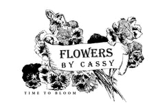 Flowers by Cassy - Time to bloom logo Cheltenham