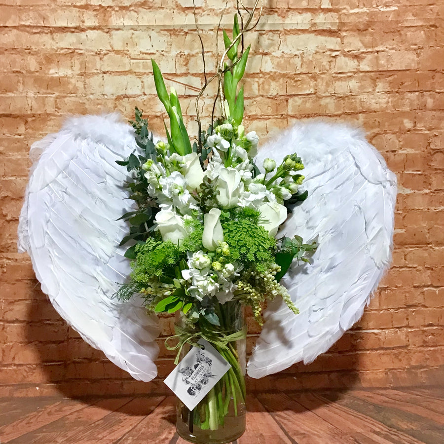 Angel Wings flower arrangement