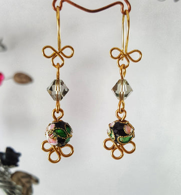 Petite Cloisonne Lantern SWAROVSKI Earrings