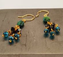 SWAROVSKI Earrings - Chandelier - Azurite