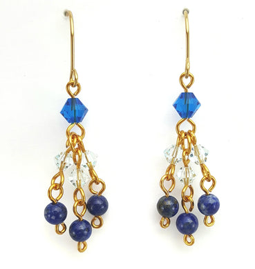 SWAROVSKI Earrings - Chandelier - Lapis Lazuli