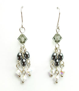 SWAROVSKI Earrings - Chandelier - Hematite