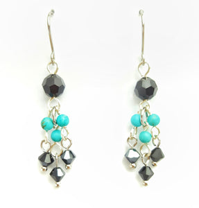 SWAROVSKI Earrings - Chandelier - Turquoise