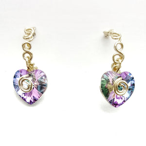 Bubble Hoop SWAROVSKI Heart Earrings