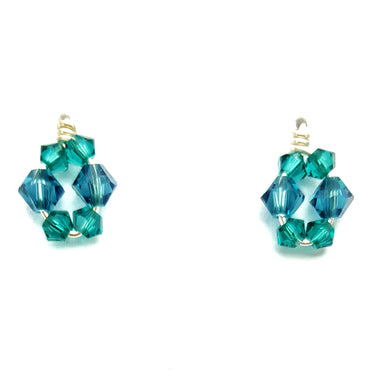 SWAROVSKI Ellipse Earrings - blue