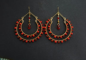 Jocelyn Double Hoop Earrings