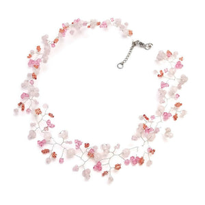 Whimsical Necklace and Hair Vine - Soft and Sweet Rose Quartz