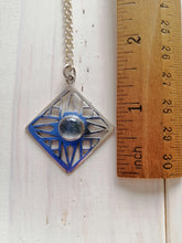 Rainbow MoonStone Geometric Pendant