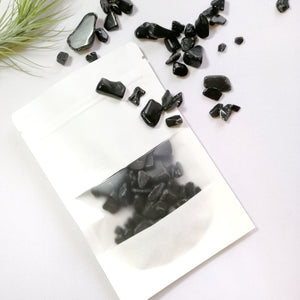 Black Tourmaline Chips 6-9mm