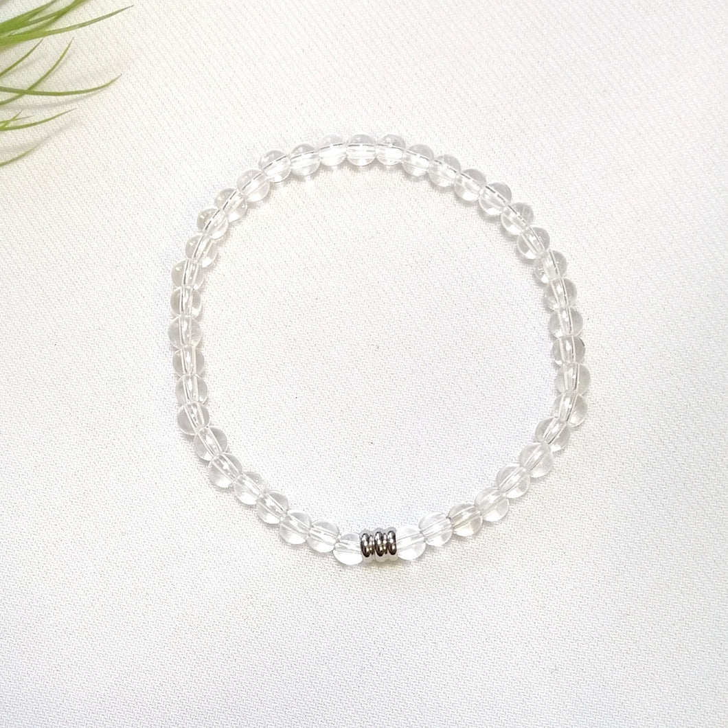 Clear Quartz Bracelet 4mm