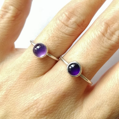 Minimalist Amethyst Ring - choose the correct variation