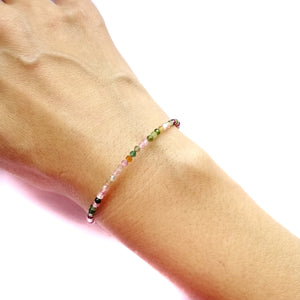 Multi Coloured Tourmaline Bracelet - 2mm
