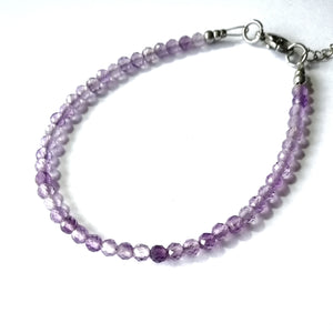 Faceted Amethyst Bracelet - 3mm