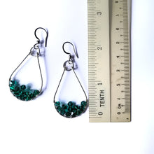 Dolly Swarovski Earrings - Emerald Green
