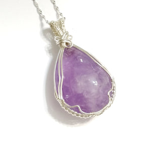 2 Way Lavender Amethyst Sterling Silver Pendant