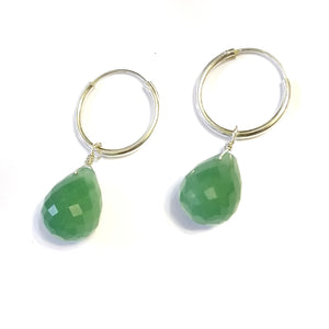 Everlast Earrings - Large Aventurine Teardrops