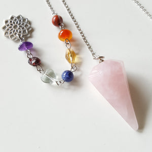 Crystal Pendulum with 7 Chakras