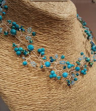 Whimsical Necklace and Hair Vine - Turquoise Beauty