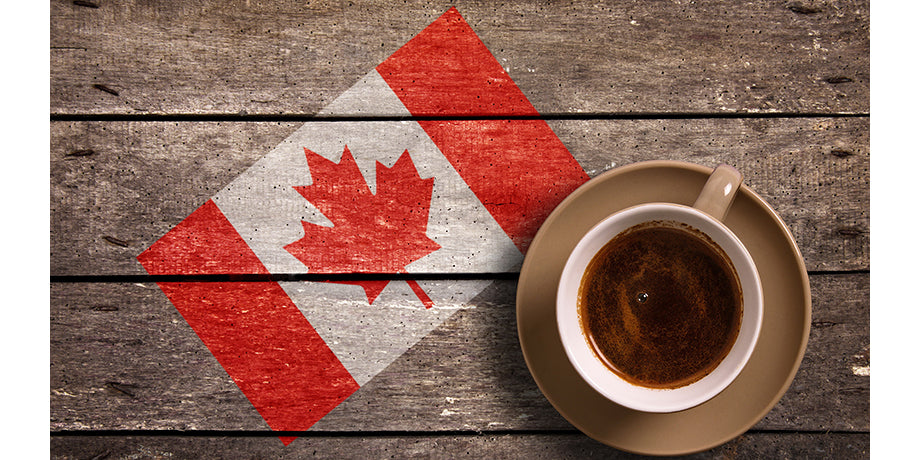 coffee cup and canada flag