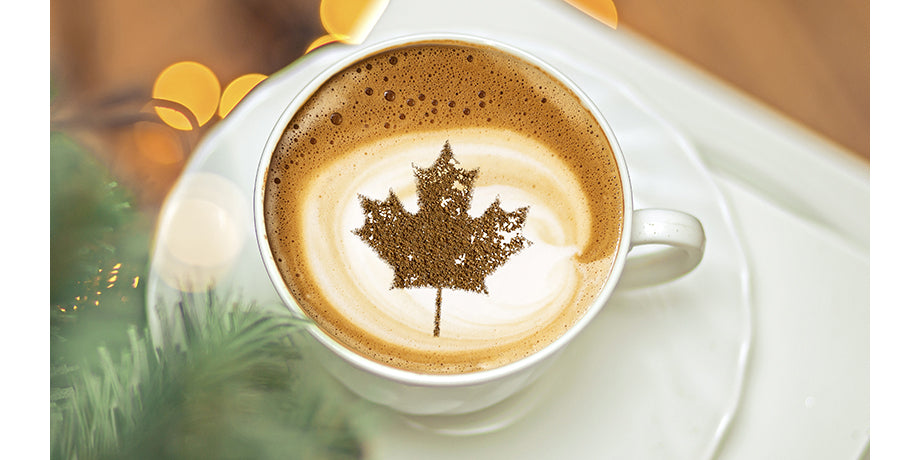 coffee cup maple leaf