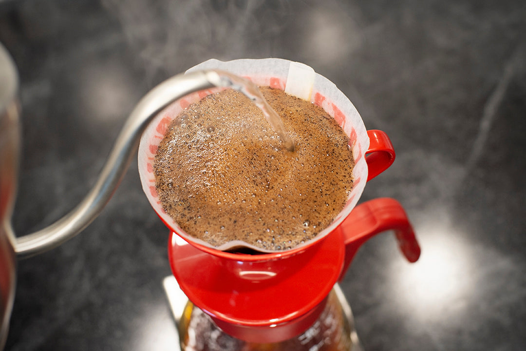 black coffee pour over